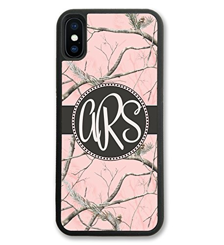 iPhone XR, Simply Customized Phone Case Compatible with iPhone XR [6.1 inch] Pink Camo Monogrammed Personalized IPXR ()