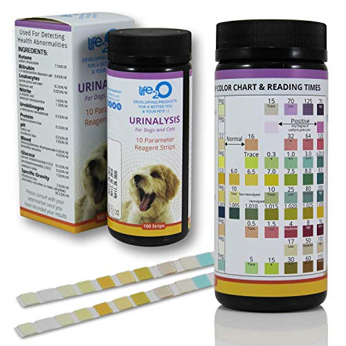 10-in-1 Dog and Cat Vet-10 Urine Test Strips 100ct, Veterinarian Lab Grade Pet Health Wellness Urinalysis Home Testing Kit, Detect Urinary Tract Infections - UTI, Diabetes, Kidney and Liver Function 2