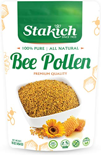 Stakich BEE POLLEN GRANULES 1 lb (16 oz) - 100% Pure, Natural, Unprocessed -