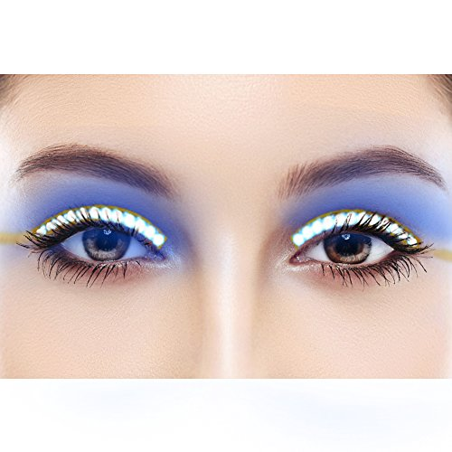 LED Eyelashes Sound Control Waterproof Shining False Lashes Eyeliner for Party, Concert, Raves or Halloween Cosplay ()