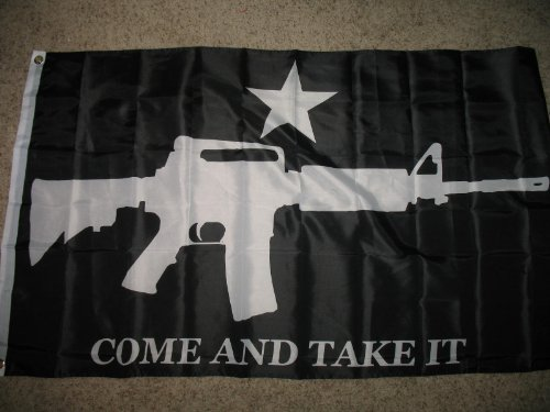 3x5 Black Tactical M4 Carbine Gun Come and Take It Flag Poly