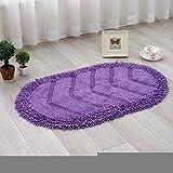 Cotton mats hallway mat kitchen mat water-absorbing mats oval -45*70cm b