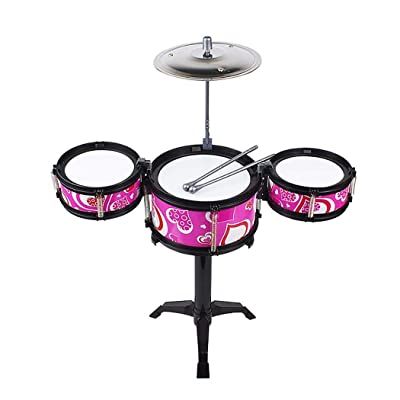 QiBest Children Simulation Jazz Drum Kit Toy Musical Instrument Percussion Toy Pianos & Keyboards: Home & Kitchen