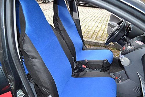 Sitzbezüge Schonbezüge Vordere Blau Schwarz Polyester Passgenau Neu Hochwertig Ovp Baby