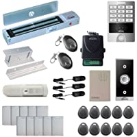 Vsionis FPC-5631 One Door Access Control Inswinging Door 600lbs Maglock with VIS-3004 Outdoor Weatherproof Metal Touch Keypad/Reader Standalone No Software 2000 Users with Wireless Receiver PIR Kit