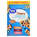 Chewy Granola Bars, Variety Pack, 20.3 oz, 24 Count Make It a Healthy Breakfast and Serve These Granola Bars With a Side of Your Favorite Fresh Fruits in The Morning
