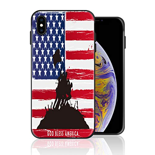 Silicone Case for iPhone 6s Plus and iPhone 6 Plus, God Bless America Design Printed Phone Case Full Body Protection Shockproof Anti-Scratch Drop Protection Cover