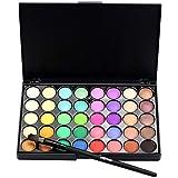 #6: Febecool Matte Eyeshadow Cream Eye Shadow Palette Shimmer Set/40 Color+ Brush Set (B)