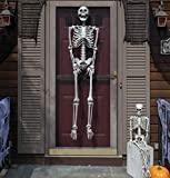 "SCS Direct Halloween Life Size Skeleton Value Pack (Set of 2) - Adult (5 4"") and Child (3) Decorations- Weatherproof Indoor/Outdoor Realistic Human Bones Body Prop"