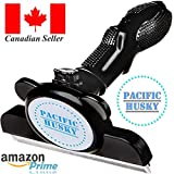 Pacific Husky Pet's Shedding Brush - Self Cleaning DeShedding Tool w/Fur Ejector, Detachable Comb, Stainless Steel Edge and Ergonomic Handle - Suitable for Dogs, Cats & Horses - L