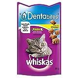 Whiskas Dentabites Cat Treats Chicken 50g (PACK OF 4)