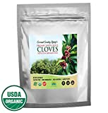 Organic Whole Cloves 1 lb Fair Trade in Mylar Bag w/ E-Book of Secrets of Cloves and Gourmet Recipes