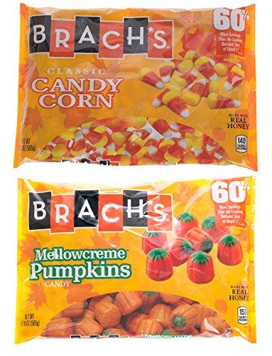 Brach's Autumn Seasonal Candy Bundle: 2 Bags - Candy Corn, Mellowcreme Pumpkins