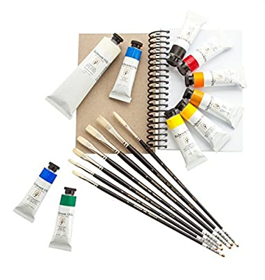 Jack Richeson SW003 Skip Whitcomb's Oil Paint and Brush Kit