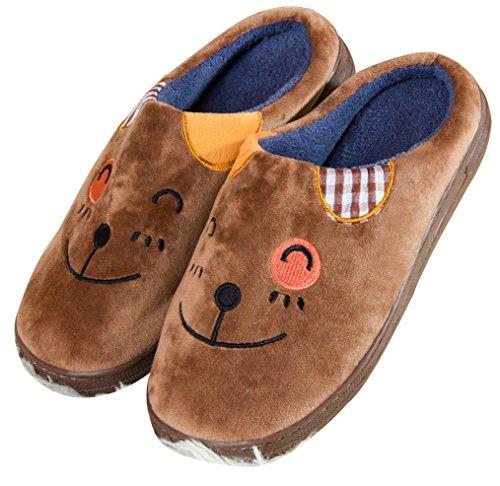 Pantofole Da Uomo Blubi Moda Animali Ciabatte Simpatiche Ciabatte Marroni