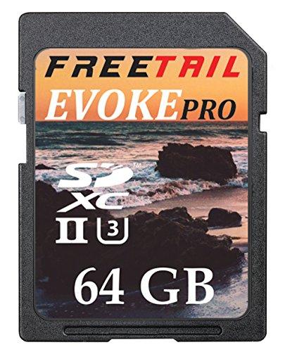 Freetail Evoke Pro 1000X 64Gb Sdxc Uhs Ii U3 Card  Up To 240 Mb S V60  Ftsd064a10