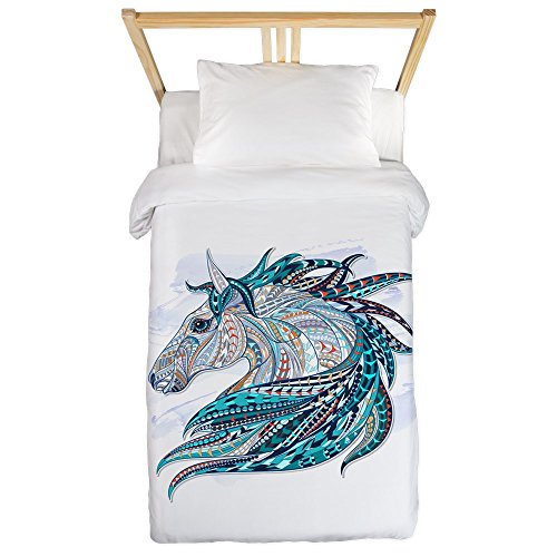 Twin Duvet Cover Maverick Patterned Horse by Royal Lion