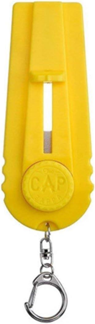 ZKZB Lanzador de Tapa de Apertura de Botella Lanzador de Tapa de Resorte Lanzador de catapulta Herramienta de Barra con Forma de Pistola Tirador de Apertura de Bebida Abrebotellas de Cerveza