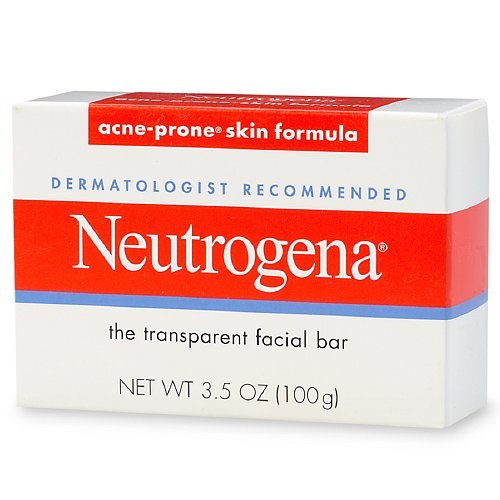 Neutrogena Transparent Facial Bar, Acne-Prone Skin Formula Soap 3.5 oz (Pack of 6)