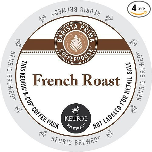 Barista Prima Coffeehouse French Roast, Single Serve Coffee K-Cups, 48-Count For Brewers by Barista Prima House