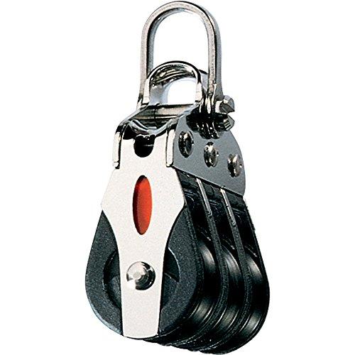 (Ronstan Series 20 Ball Bearing Block - Triple - 2-Axis Shackle Head (55141))