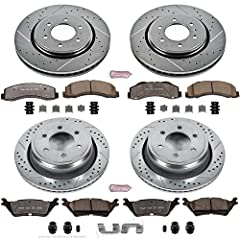 Power Stop Z36 Extreme Truck and Tow brake kit is for your F-150 that tow/haul, as well as the off-road enthusiast. The low-dust ceramic formula brake pads are reinforced with carbon fibers to strengthen the compound. They are dust free, nois...
