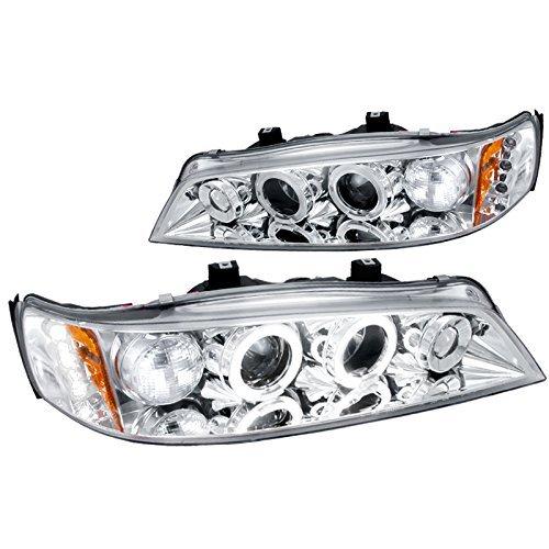 (Spec-D Tuning 2LHP-ACD94-TM Honda Accord Chrome Clear Led Projector Halo Head Lights)
