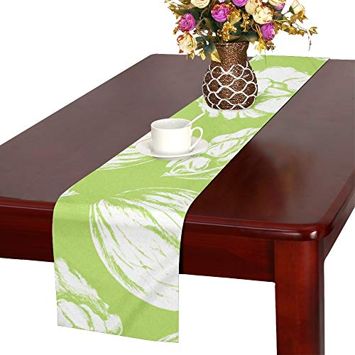 - Walnut Dried Fruit Snacks Creative Crops Table Runner, Kitchen Dining Table Runner 16 X 72 Inch for Dinner Parties, Events, Decor