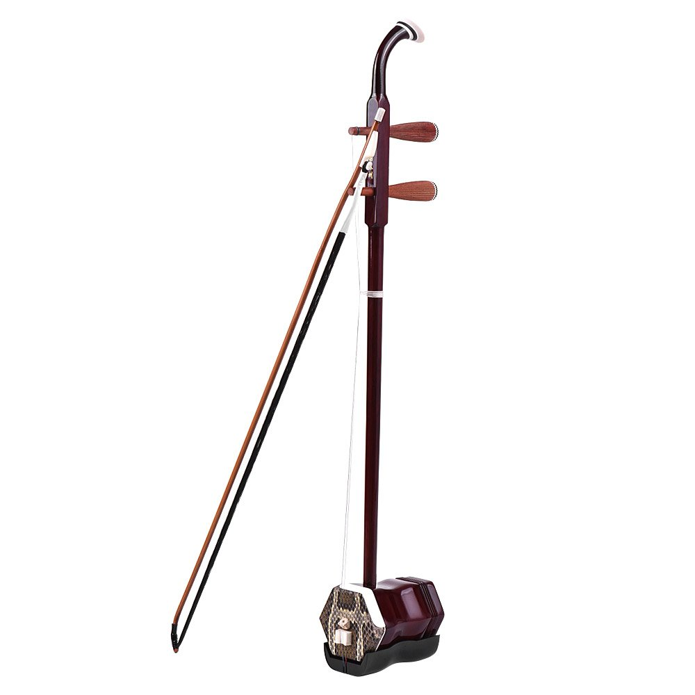ammoon Madera Maciza Erhu Chino de 2 Cuerdas Viol/ín Viol/ín Encadenado Instrumento Musical