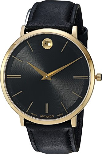 Movado Men's Ultra Slim - 0607087 Black One (Movado Black Clock)