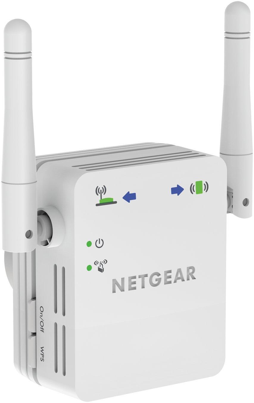 Netgear WN3000RP-200FRS - Repetidor de red WiFi N300 (antenas externas direccionales, Smart Leds para encontrar la mejor ubicación) [modelo francés]: ...