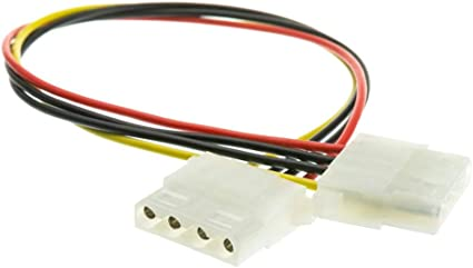 "12/"" Monoprice Molex Internal DC Power Cable 1x 5.25/"" Female to 1x 5.25/"" Female"
