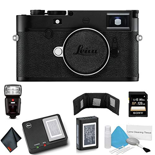 Leica M10-D Digital Rangefinder Camera (20014) - Bundle with 128GB Memory Card + Leica SF 64 Flash + More