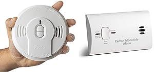 Kidde Safety - 21026055 Kidde Sealed Lithium Battery Power Smoke Detector Alarm | Model i9010, White & Carbon Monoxide Detector Alarm |Battery Operated | Model # KN-COB-LP2 9CO5-LP2