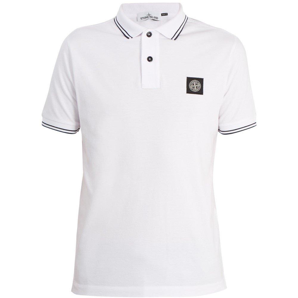 (ストーンアイランド) Stone Island メンズ トップス ポロシャツ Logo slim-fit cotton polo shirt [並行輸入品] B079GJ8B8D   XXL