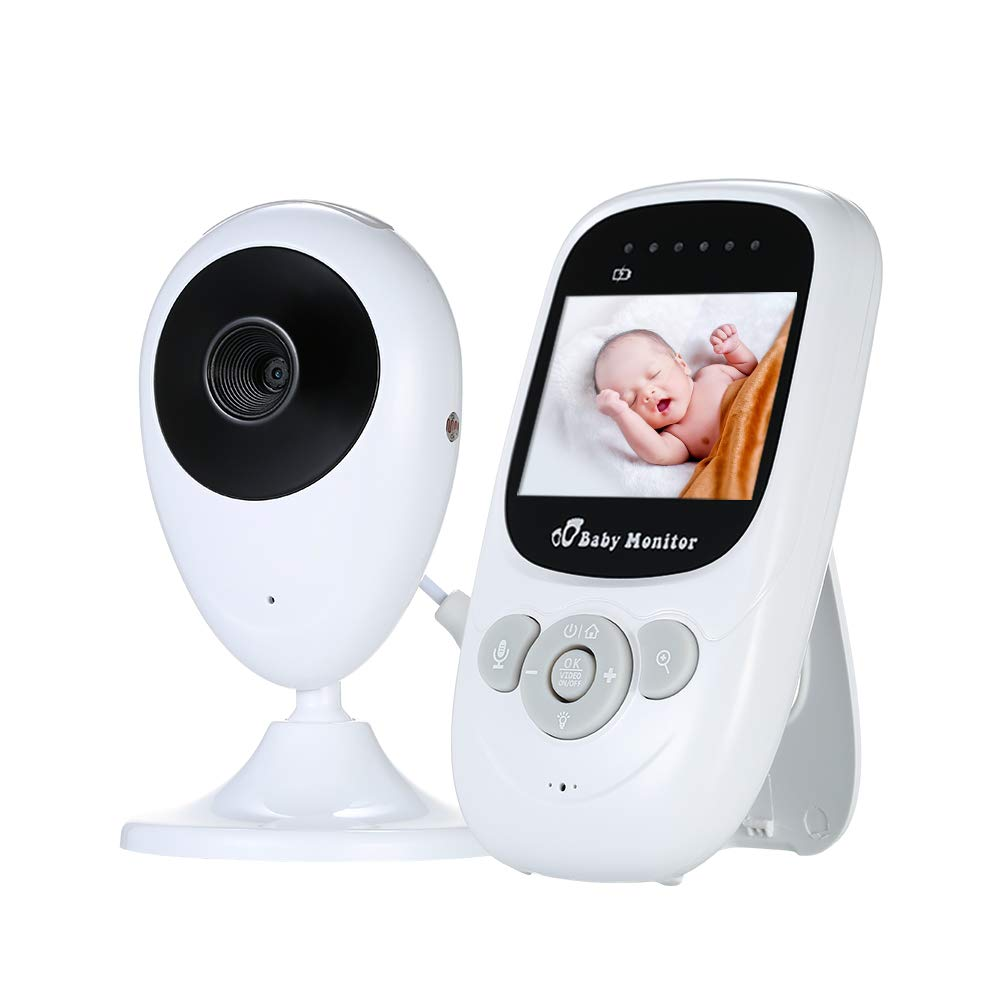Decdeal Vigilabeb/és Digital con Monitor C/ámara Inal/ámbrica de 2.4 Pulgadas de LCD con Visi/ón Nocturna por Infrarrojos Funci/ón de monitoreo Bidireccional AC100~240V