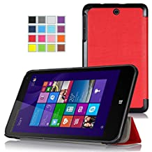 Asuxtek ® Hp Stream 7 windows 8.1 tablet ultra-thin Smart Cover Case , Only fit Hp Stream 7 windows 8.1 tablet (Red)