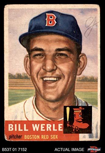 - 1953 Topps # 170 Bill Werle Boston Red Sox (Baseball Card) Dean's Cards 1.5 - FAIR Red Sox