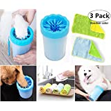Dog Paw Washer with 2 Towel, Magnoloran Comfortable Silicone Dog Feet Cleaner Pet Foot Quick Washer Cup Pet Cleaning Brush Cup for Small Size Cat and Dog with Muddy Paws, A Must-Have Tool for Dog Lovers