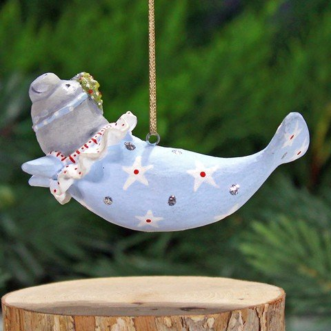 Patience Brewster Krinkles 0830960 Mini Mabel Manatee Decoration Christmas Ornament - Krinkles Star