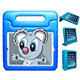 KAYSCASE KidBox Protective Cover Case with Stand and Handle for Apple iPad 2, 3, 4 (Blue)
