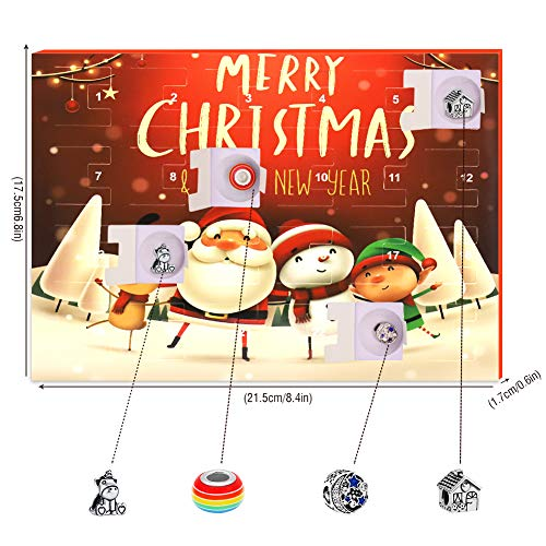 Devis Advent Calendar for Girls 2020 Christmas Countdown Calendar DIY Bracelets Making Kits Xmas Gifts Box for Kids Teen…