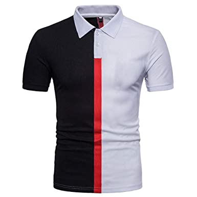 Camiseta Polo con Cuello En Contraste De Verano para Hombre ...