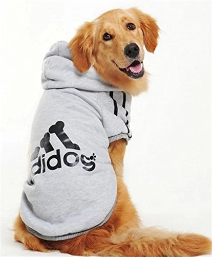 [YAAGLE Dog Sweatshirt Hoodie Warm Coat Apparel for Middle Large Big Dog] (Video Of Dog In Costume)
