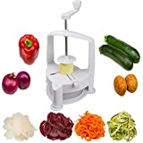 Brieftons Vertico Spiralizer: Vegetable Spiral Slicer, Fresh Veggie Spaghetti & Pasta Maker for Low Carb Healthy Vegetable Meals