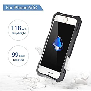 iPhone Camera Lens Kit, OXOQO 3 in 1 198° Fisheye Lens + 15X Macro Lens + Wide Angle Lens with IP54 Dustproof Shockproof Aluminum Case, Built-in Screen Protector for IPhone 6/6s 4.7 Inches