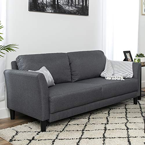 Best Choice Products 71In Linen Upholstered Classic Sofa Couch Lounger - Gray