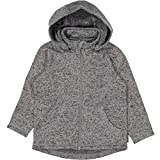 Polarn O. Pyret Marled Fleece Hoodie Jacket (2-6YRS) - Grey Melange/2-4 Years