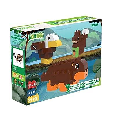 BIOBUDDI Wildlife Forest Set - Children's Building Blocks Playset: Toys & Games