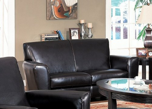 AtHomeMart Contemporary Havana Leather Sofa Love Seat Couch